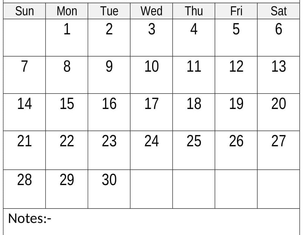 Free Printable June 2020 Calendar Cute