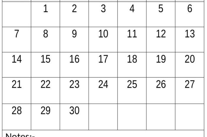 Download Free Printable June 2020 Calendar