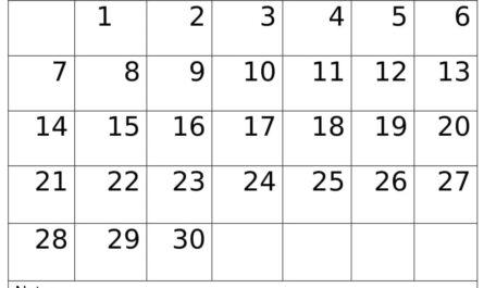 June 2020 Calendar Decorative