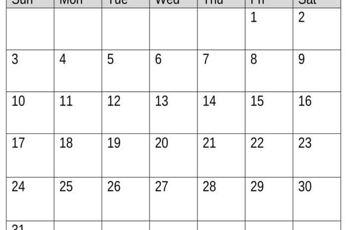 May 2020 Calendar Printable With Week Numbers
