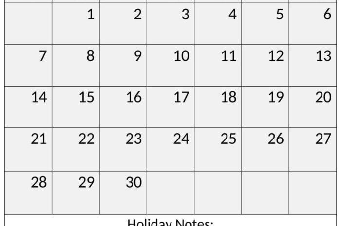 November 2021 Calendar With Holidays For PDF, Word, Excel